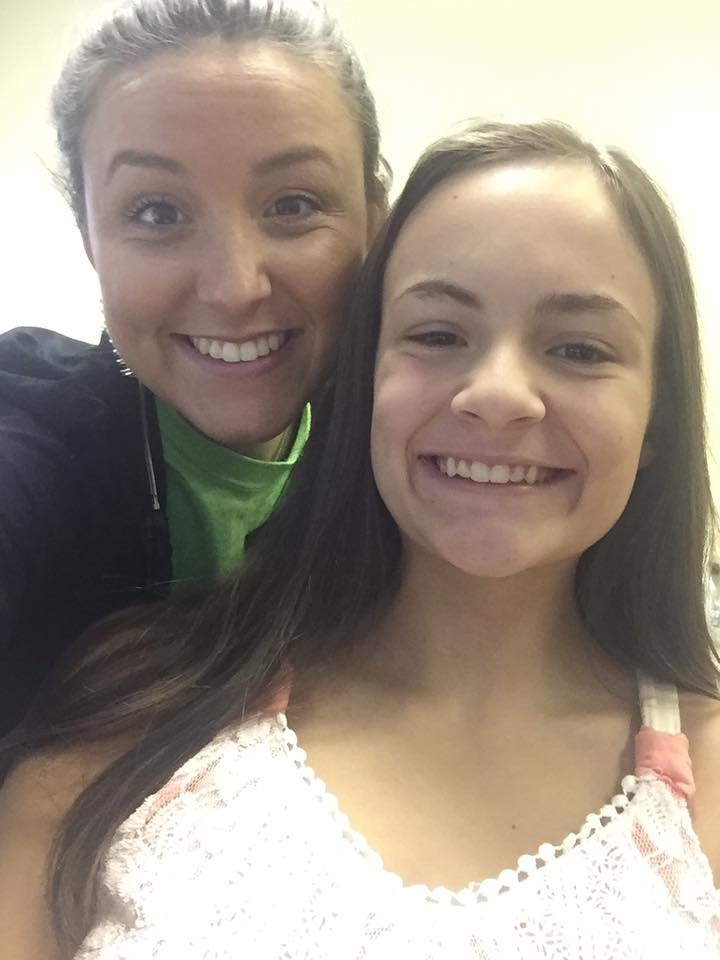 Morgan's first selfie without braces!