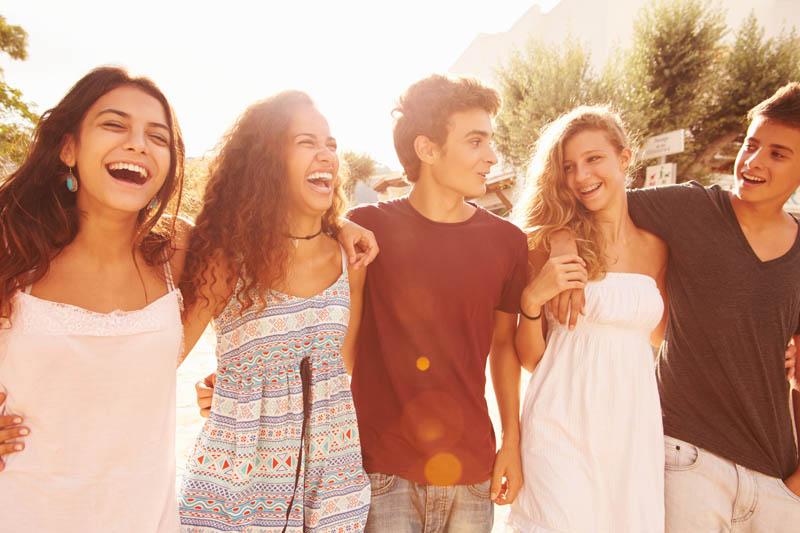 Smiling Teens